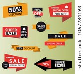 set of sale labels  discount ... | Shutterstock .eps vector #1067284193