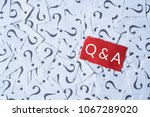 question mark on white paper... | Shutterstock . vector #1067289020