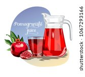 fresh juice background with... | Shutterstock .eps vector #1067293166