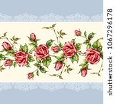 seamless floral background.... | Shutterstock .eps vector #1067296178