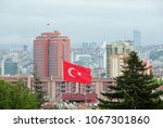 flags of the turkish republic... | Shutterstock . vector #1067301860