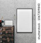 poster frame mockup. mock up. | Shutterstock . vector #1067309840