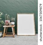 poster frame mockup. mock up. | Shutterstock . vector #1067309879