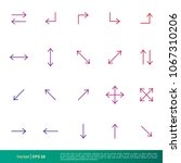 set arrow icon vector template | Shutterstock .eps vector #1067310206