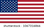 usa flag with official colors... | Shutterstock .eps vector #1067316866