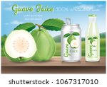 guava juice.illustration vector | Shutterstock .eps vector #1067317010