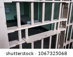 food channel through prison... | Shutterstock . vector #1067325068
