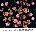 seamless vector floral pattern... | Shutterstock .eps vector #1067328830
