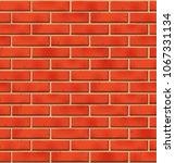 brick wall seamless pattern... | Shutterstock .eps vector #1067331134