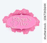 vector card for happy mother's... | Shutterstock .eps vector #1067343644