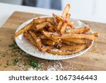homemade truffle french fries... | Shutterstock . vector #1067346443