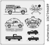 set of farmers market emblems ... | Shutterstock .eps vector #1067346689