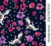 beautiful tender swans  crane ... | Shutterstock .eps vector #1067347919