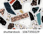 terrazzo seamless pattern.... | Shutterstock .eps vector #1067350229