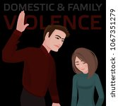 domestic   family violence. a...   Shutterstock .eps vector #1067351279