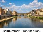 ponte vecchio of florence ...   Shutterstock . vector #1067356406