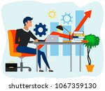 concept business flat... | Shutterstock .eps vector #1067359130