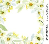 greeting card with watercolor... | Shutterstock . vector #1067360198
