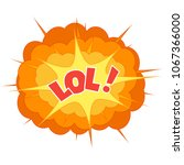 comic explosion cloud isolated... | Shutterstock . vector #1067366000