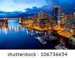 Stock photo vancouver night view 106736654