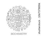 biochemistry genetics in circle ... | Shutterstock .eps vector #1067378006