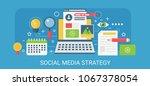 flat modern vector concept... | Shutterstock .eps vector #1067378054