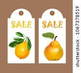 pear and lemon  white price... | Shutterstock .eps vector #1067378519