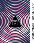 minimal trendy cover design.... | Shutterstock .eps vector #1067378570