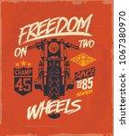 motorcycle. tee graphic.... | Shutterstock .eps vector #1067380970