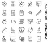 thin line icon set   calculator ... | Shutterstock .eps vector #1067383949