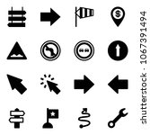 solid vector icon set   sign... | Shutterstock .eps vector #1067391494