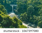 tegenungan waterfall  ubud  bali | Shutterstock . vector #1067397080