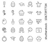 thin line icon set   cup...   Shutterstock .eps vector #1067397734