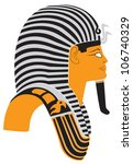 the figure shows the mummy mask ... | Shutterstock .eps vector #106740329