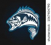 fishing bass logo. bass fish...   Shutterstock .eps vector #1067404790