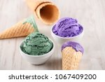 blueberry and pistachio ice... | Shutterstock . vector #1067409200