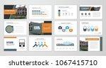 abstract presentation slide... | Shutterstock .eps vector #1067415710