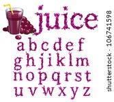 grape juice splash special font ...   Shutterstock .eps vector #106741598