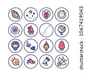 space icons made in modern line ... | Shutterstock .eps vector #1067419043