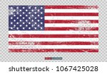 Grunge American Flag On...