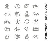 sleep related icons  thin... | Shutterstock .eps vector #1067427959