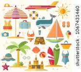 summer holiday  tourism and... | Shutterstock .eps vector #1067431460