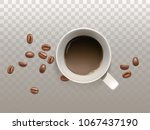 vector 3d realistic small cup... | Shutterstock .eps vector #1067437190