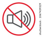 no sound line icon  prohibition ... | Shutterstock .eps vector #1067439329