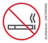 no smoking line icon ... | Shutterstock .eps vector #1067440400