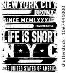 vintage slogan man t shirt... | Shutterstock .eps vector #1067441000