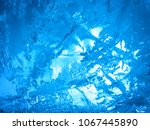 abstract ice texture. blue ice  ... | Shutterstock . vector #1067445890