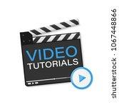 video tutorial icon. vector...   Shutterstock .eps vector #1067448866