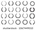 laurel wreath black collection   | Shutterstock .eps vector #1067449010