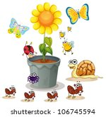 Illustration Of Plant Pot And...